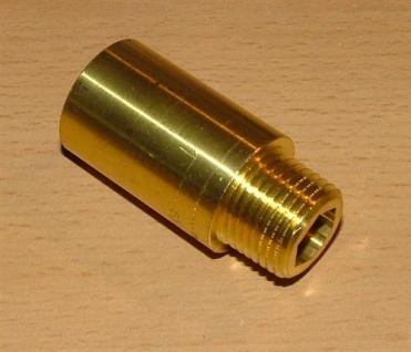 """Messing Hahnverlängerung 1/2"""" x 10mm (Auswahlmöglichkeiten)"""