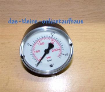 """Manometer 0-10 Bar / Axial Durch.50mm / 1/4"""" AG (Auswahlmöglichkeiten)"""