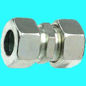 Stahl Schneidring-Verschr. GV verz. 4mm x 4mm (Auswahlmöglichkeiten)