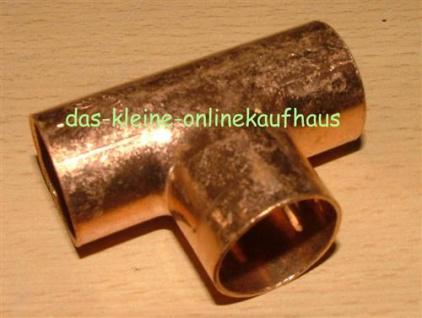 Kupfer-Lötfitting, T-Stück / 12x/12x12mm / DVGW zugelassen (Auswahlmöglichkeiten)