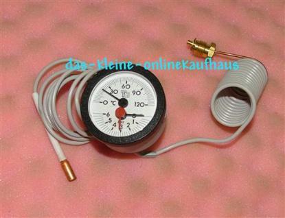 Kapillarthermometer + Manometer (Auswahlmöglichkeiten)