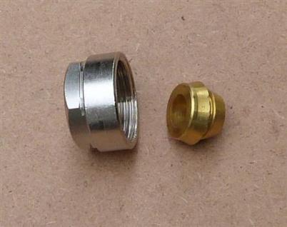 Klemmringverschraubung Eurokonus 14 mm mit Messingring / 1 Stück (Auswahlmöglichkeiten)