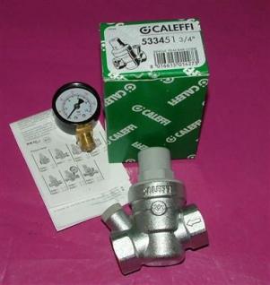 """Caleffi Druckminderer 1/2"""" incl.Manometer radial 0-10bar (Auswahlmöglichkeiten)"""