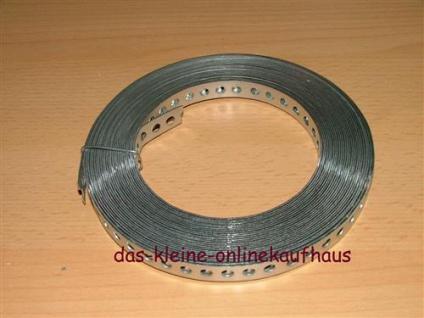 Lochband verzinkt 12mm Breite / 10m (Auswahlmöglichkeiten)