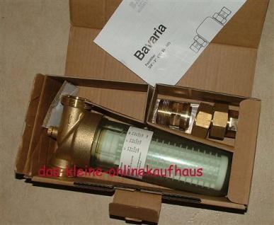 """Wasserfeinfilter 90ym /3/4"""" BAVARIA /Messingausführung (Auswahlmöglichkeiten) - Vorschau"""