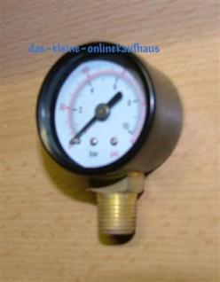 """Manometer 0-10 Bar / Radial Durch.50mm / 1/4"""" AG (Auswahlmöglichkeiten) - Vorschau"""