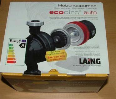 Laing Ecocirc E4 auto DN 25 BL 180 - hocheffiziente Heizungspumpe (Auswahlmöglichkeiten)