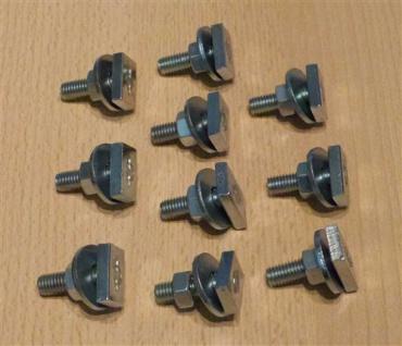Hammerkopfbefestiger für Montageschiene M 8 x 20 mm für Profil 27/18 + 28/30, 10Stück (Auswahlmöglichkeiten)