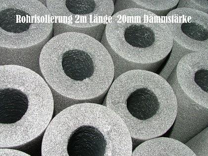 Rohrisolierung 2m Stange Ø 15 x 20mm Dämmstärke (Auswahlmöglichkeiten) - Vorschau
