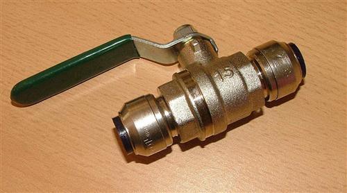 Kupfer Steckfitting Kugelhahn i/i 15 mm (Auswahlmöglichkeiten) - Vorschau