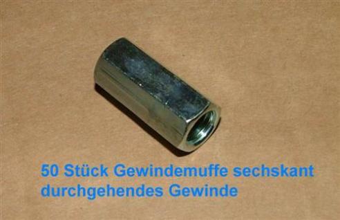 Gewindehülse verzinkt rund M10 x 30mm VPE50 Stück (Auswahlmöglichkeiten)