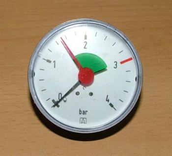 """Heizungsmanometer -axial, 3/8"""" (Auswahlmöglichkeiten)"""