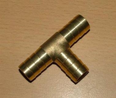 Messingverbindungsröhrchen T-Stück (Auswahlmöglichkeiten)
