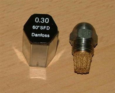 Ölbrennerdüse Danfoss Vollkegel (SFD) wählen Sie selbst die Größe (ab 0, 4 !) (Auswahlmöglichkeiten)