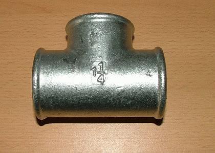 T-Stücke 90 ° Fitting-Verzinkt IG / IG / IG