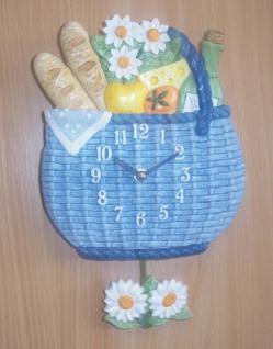 Pendeluhr Picknickkorb, blau