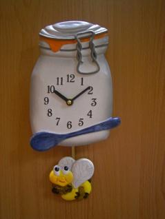Pendeluhr Einwegglas mit Biene