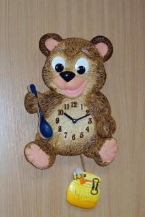 Pendeluhr Teddy mit Honigtopf
