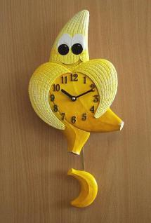 Pendeluhr Banane mit Augen - Vorschau