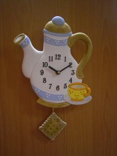 Pendeluhr Kaffeekanne, braun
