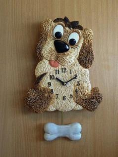 Pendeluhr Hund mit Knochen