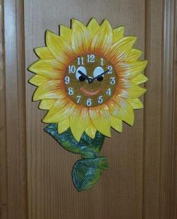 Pendeluhr Sonnenblume