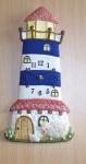 Wanduhr Blauer Leuchtturm