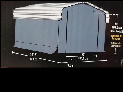 Mobiler Stahl CARPORT 3m x 4, 7m incl. Planenset - Vorschau 2