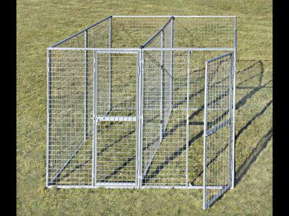 2, 4m x 2, 4m Hundezwinger + Trennwand - Vorschau 4