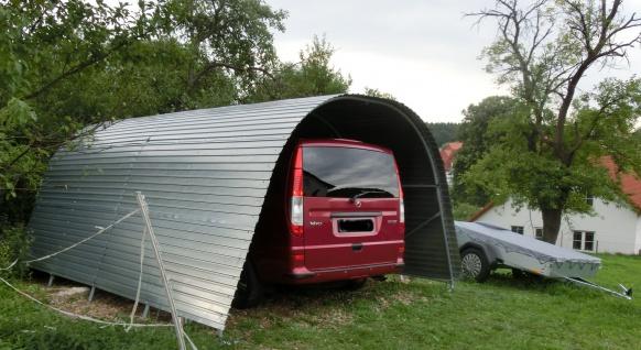 Mobiler stahl CARPORT 3, 7m x6m oder auch länger - Vorschau 3