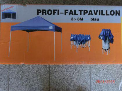 3m Profi Faltpavillon + 4 Seitenteile