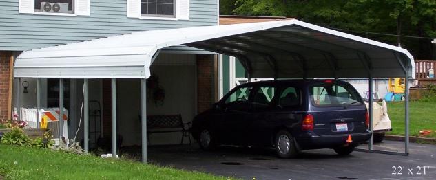 Mobiler Stahl CARPORT 3m x 4, 7m incl. Planenset - Vorschau 5