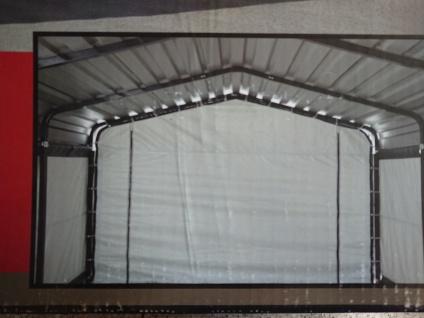 Mobiler Stahl CARPORT 3m x 4, 7m incl. Planenset - Vorschau 3