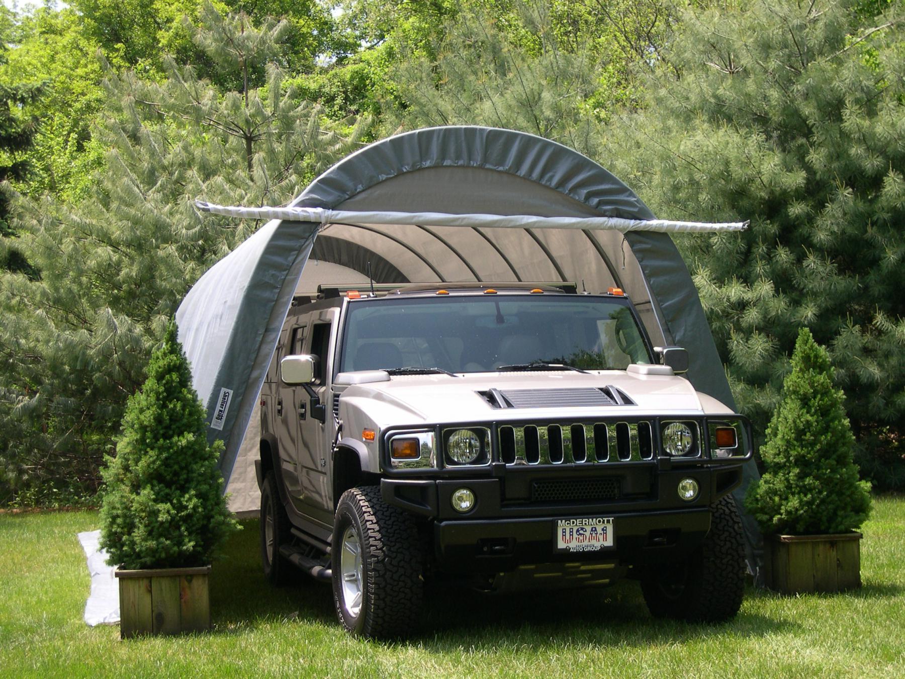 8 5m x 3 9m x 3m Runddach Garage Kaufen bei Technik
