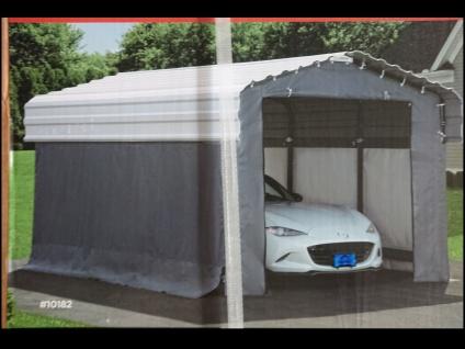 Mobiler Stahl CARPORT 3m x 4, 7m incl. Planenset