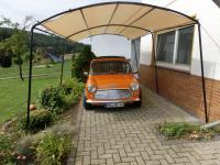 "Runddach Carport ""L"" Überdachung 3m x 5, 6m x 2, 5m"
