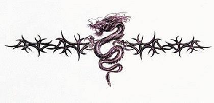 Abziehbild ,Steiß Tattoo 7