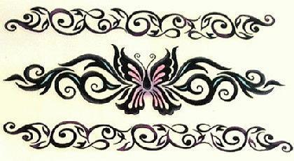 Abziehbild ,Steiß Tattoo 28