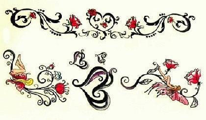 Abziehbild ,Steiß Tattoo 32 - Vorschau