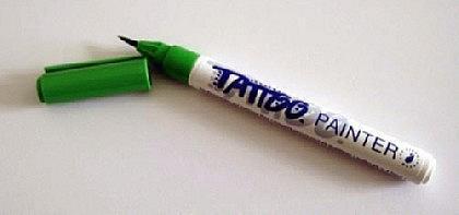 Tattoo-Stift fürs Bodypainting, grün