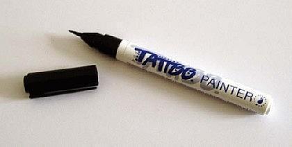 Tattoo-Stift fürs Bodypainting, schwarz
