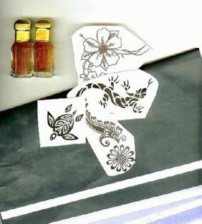 Set zum Herstellen von Tattoo + Henna Vorlagen