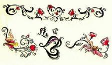Abziehbild ,Steiß Tattoo 32