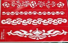 Henna Tattoo-Schablone für Mehndi Bemalung