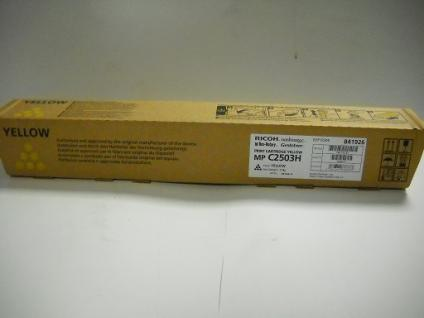 Original Ricoh Toner, MP C2503H, yellow, Art.-Nr. 841926, für Ricoh MP C2503, 2004, 2504, 2003 usw.
