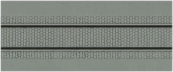 Kibri 34125 Straßenplatte mit Gleiskörper