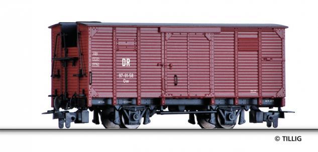 Tillig 241232 H0e gedeckter Güterwagen DR