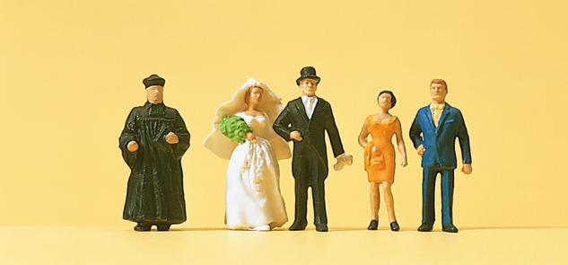 Preiser 14057 Brautpaar, ev. Geistlicher