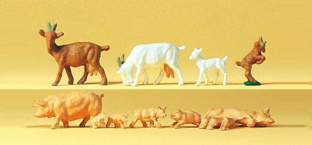 Preiser 14162 Ziegen, Schweine