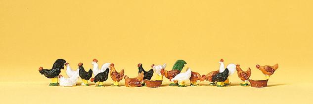 Preiser 14168 Hühner, Hähne